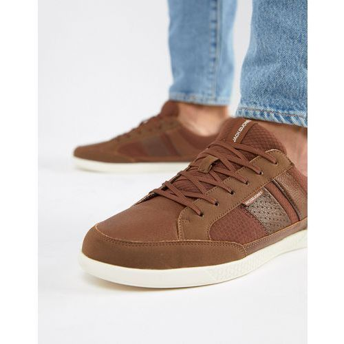 mixed panel trainers - brown, Jack & jones