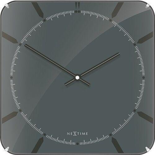 Zegar ścienny Michael Square Dome szary, 3173