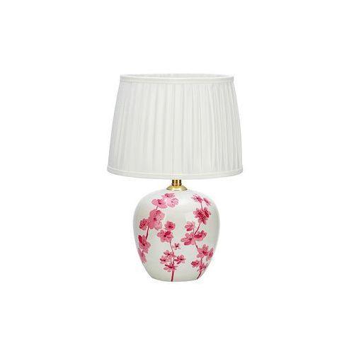 Stojaca LAMPA nocna CHERRY 107194 Markslojd abażurowa LAMPKA prowansalska kwiatki flowers shabby biała różowa