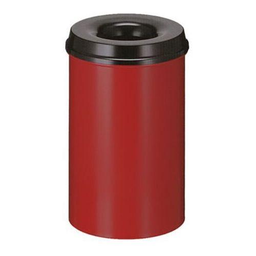 Bezpieczny kosz na papier, poj. 20 l, wys. 426 mm, czerwony. korpus z blachy sta marki Vepa bins