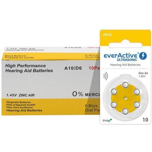 6 x baterie słuchowe everActive ULTRASONIC 10
