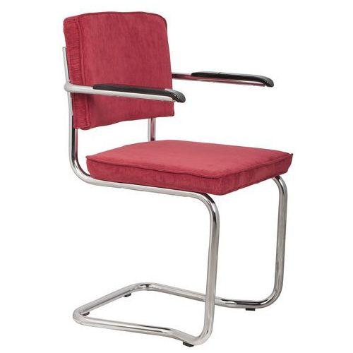 Zuiver fotel ridge kink rib czerwony 21a 1200045 (8718548013513)