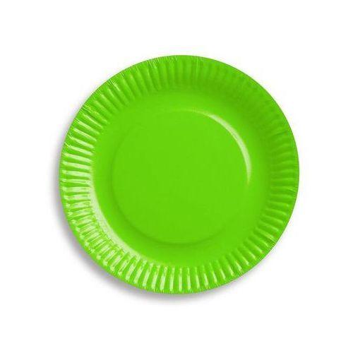 Go Talerzyki papierowe zielone - 18 cm - 6 szt.
