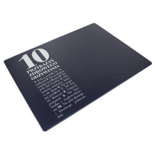 Healthy plan by ann - deska/podkładka szklana wymiary: 30 x 40 cm