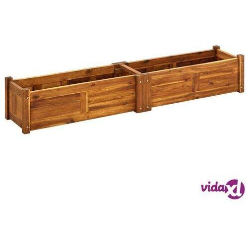 vidaXL Skrzynia na rośliny z drewna akacjowego, 150 x 30 25 cm