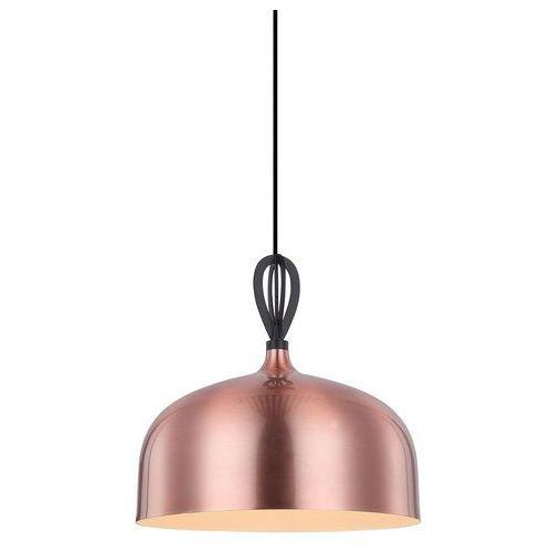 Lampa wisząca Italux Emerald MDM-3270-1 BK+COP zwis 1x60W E27 miedziana / czarna (5900644433637)