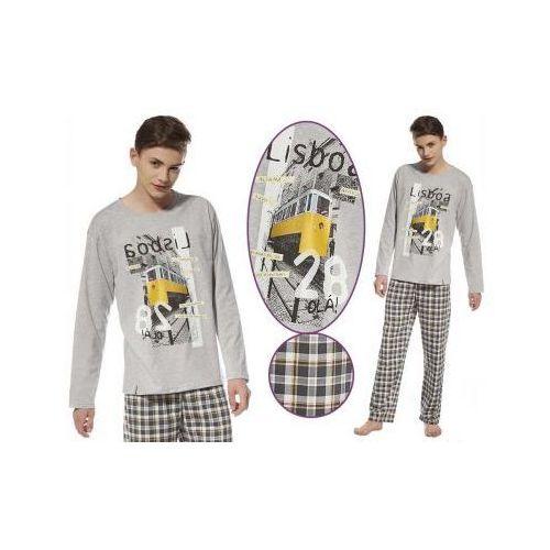 Piżama męska LISBOA: szary/żółty