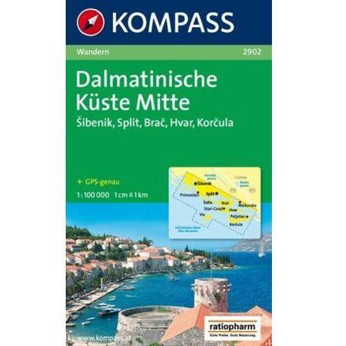 Dalmacja Wybrzeże Środkowe mapa 1:100 000 Kompass