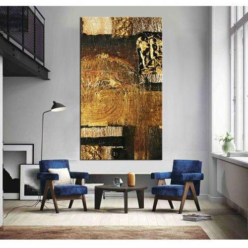 Duze obrazy do salonu czarny ze złotem