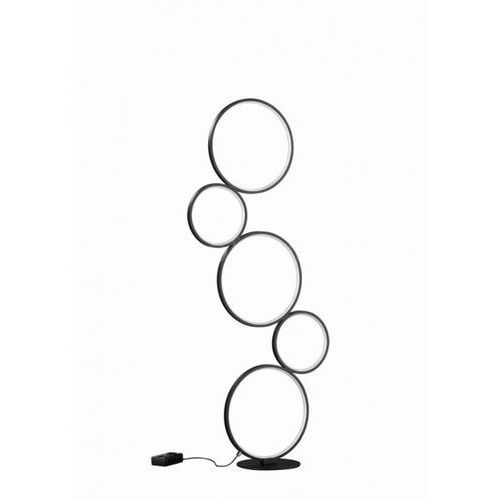 Trio Lampa stojąca leuchten rondo led czarny, 1-punktowy - nowoczesny - obszar wewnętrzny - rondo - czas dostawy: od 6-10 dni roboczych (4017807423853)