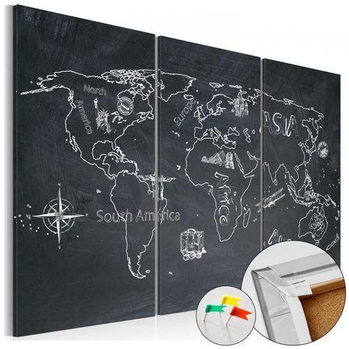 Obraz na korku - podróże kształcą (tryptyk) [mapa korkowa] marki Artgeist