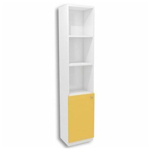 Biało-żółty regał dla dziecka Elif 11X - 5 kolorów, regał-B