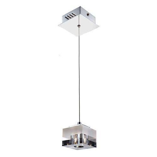 LAMPA wisząca CUBRIC MD9216-1A Italux szklana OPRAWA halogenowa ZWIS kostka cube box biała przezroczysta (5900644342366)