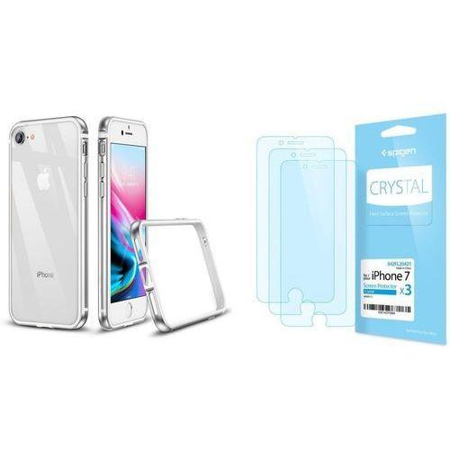 Zestaw | etui crown silver + folia spigen crystal film - iphone 7 / 8 marki Esr