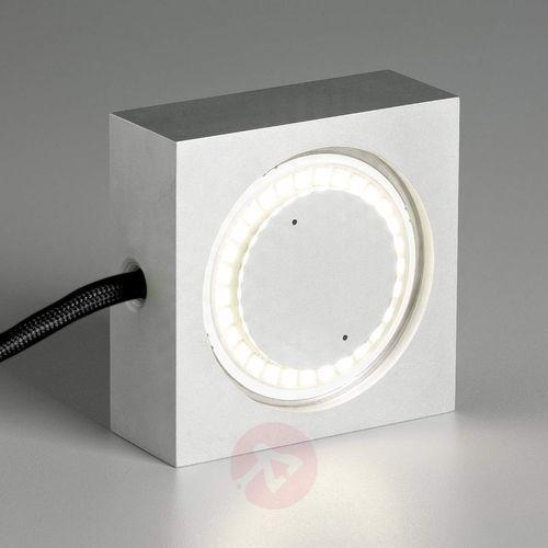 Wielofunkcyjna lampa SQUARE z LED, czarny przewód