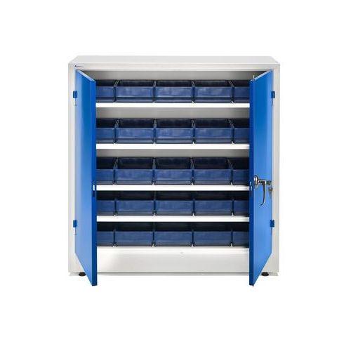 Szafka warsztatowa z pojemnikami, 25 pojemników, 1000x1000x400 mm marki Aj produkty