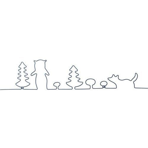 Dekoracja ścienna metalowa mini las marki Bloomingville