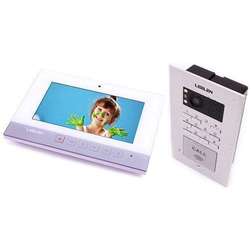 Leelen technology Wideodomofon - 7cali n75b/no18pc+3xbrelok (z czytnikiem)