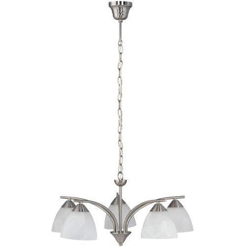 Lampa wisząca tristan 5x40w e14 satynowy chrom/biały 7205 marki Rabalux