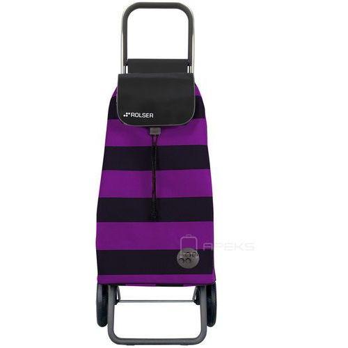 Rolser logic wózek na zakupy / składany / pac013 lila/negro / czarno - fioletowy - liliowy / czarny