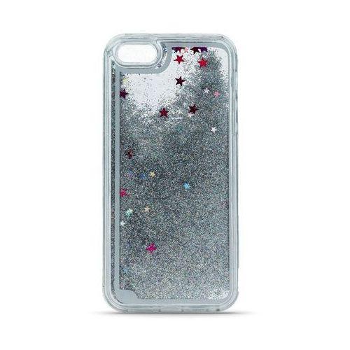 Silikonowa nakładka Liquid Glitter do Samsung Galaxy A3 2016 A310 srebrna