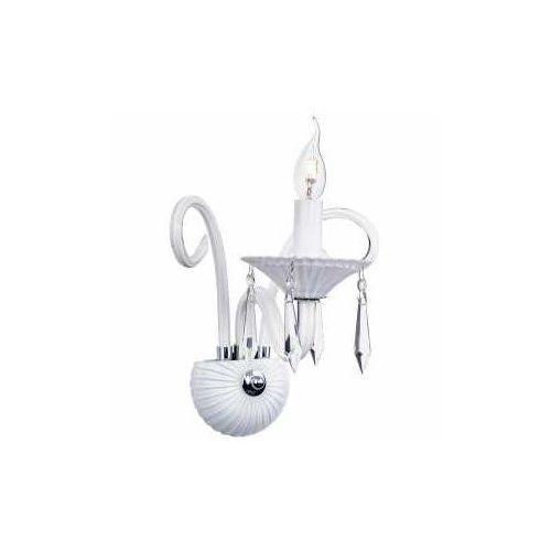 Kinkiet LAMPA ścienna ROSANO 5193102 Spotlight świecznikowa OPRAWA pałacowa z kryształkami crystal biała