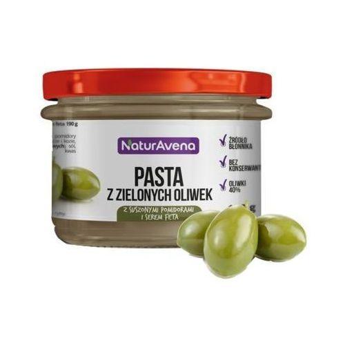 185g pasta z zielonych oliwek z pomidorami i serem feta marki Naturavena