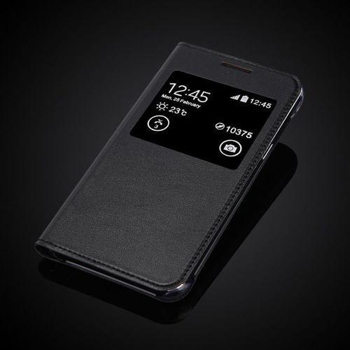Flip Leather Czarny | Etui z klapką dla Samsung Galaxy J5 2016 - Czarny (Futerał telefoniczny)