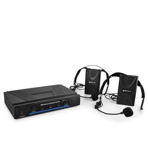 171.818 mikrofony bezprzewod. vhf 2 kanały 2 x headset marki Qtx
