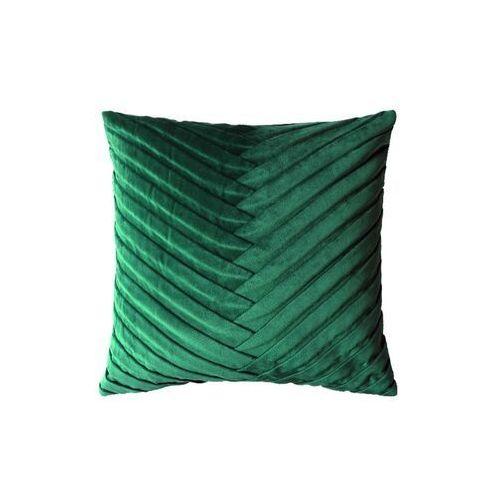 Poduszka ROSALIA w romantycznym stylu – welur – 45 × 45 cm – kolor zielony