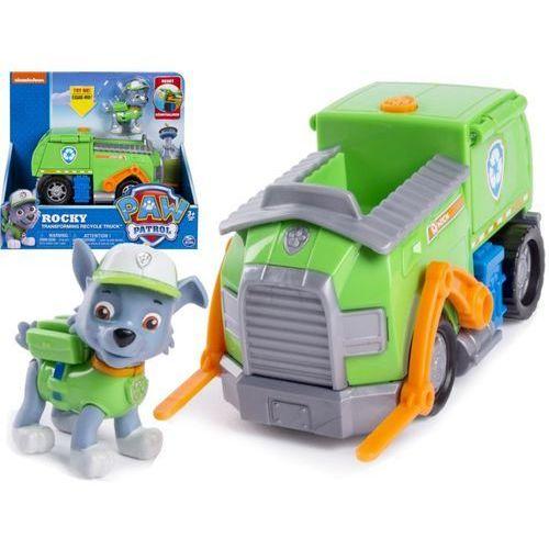 Psi patrol transformująca śmieciarka figurka rocky marki Spin master