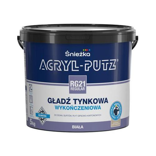 Gładź tynkowa ACRYL-PUTZ REGULAR RG21 5 kg ŚNIEŻKA, 1616-05000-000BK