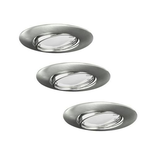Zestaw opraw stropowych oczek 3 szt. OLIN nikiel okrągłe LED POLUX