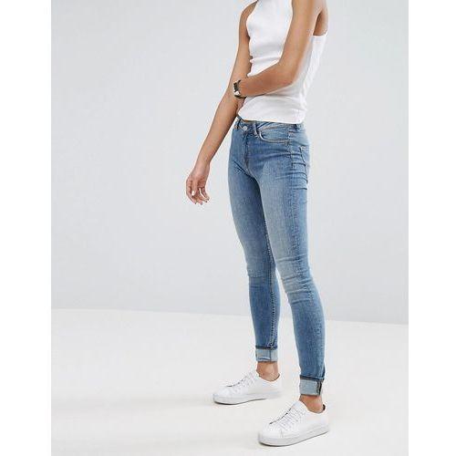 Weekday Body High Waist Super Stretch Skinny Jeans - Blue, kolor niebieski
