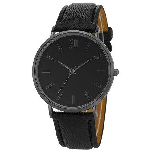 Zegarek damski męski SIMPLE klasyczny czarny błysk - grid black