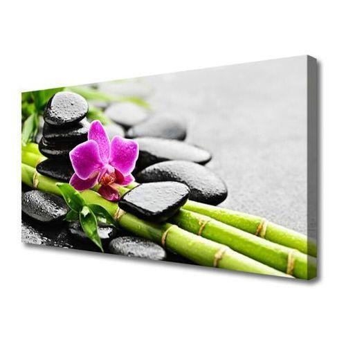Obraz na Płótnie bambus Kwiat Kamienie Sztuka