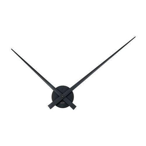 :: zegar ścienny little big time czarny - czarny marki Karlsson