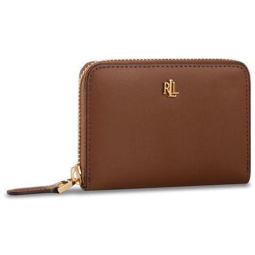 Lauren ralph lauren Mały portfel damski - sm zip wllet 432754175002 brown/black