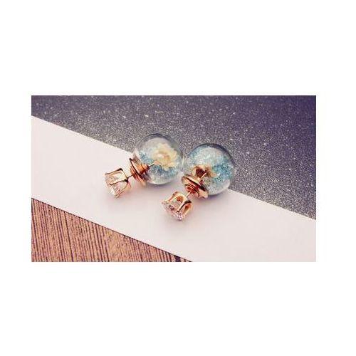 Kolczyki za ucho tribal z kwiatem kryształ niebieskie k511 marki Kasandra
