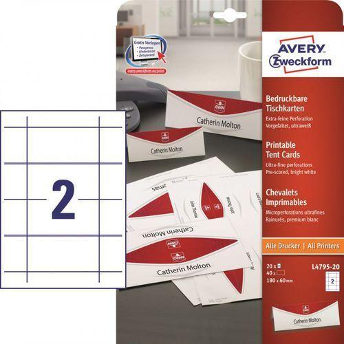 Etykiety identyfikatory Avery Zweckform L4795, 180x60mm z kategorii Etykiety biurowe