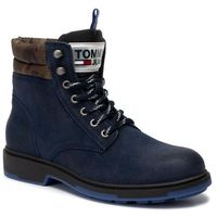 Trapery TOMMY JEANS - Casual Suede Boot EM0EM00315 Ink 006, w 4 rozmiarach