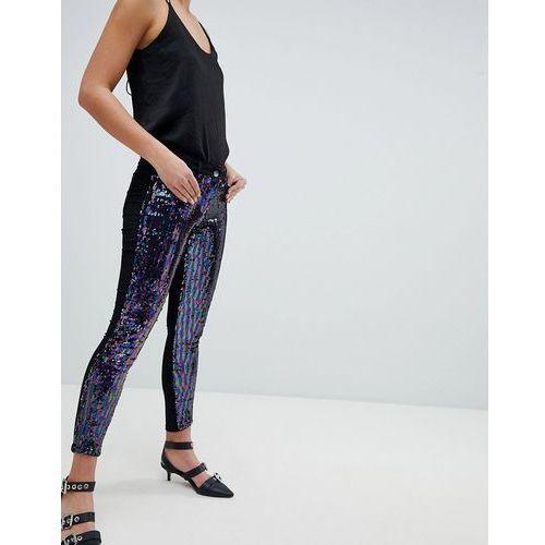 Parisian Skinny Festival Jeans in Sequins - Black, skinny