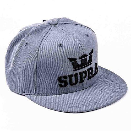 czapka z daszkiem SUPRA - Above Snap Accs Grey (GRY), kolor szary