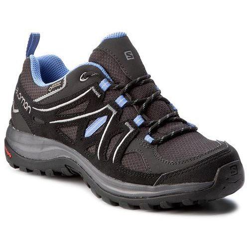 Trekkingi - ellipse 2 gtx w gore-tex 381629 20 m0 asphalt/black/petunia blue marki Salomon