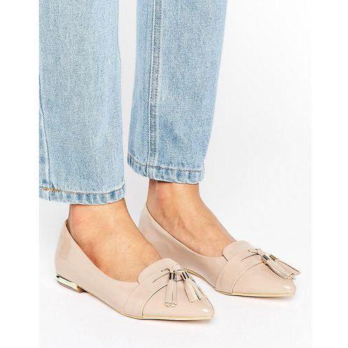 nikki pointed tassel flat shoes - beige, Miss kg