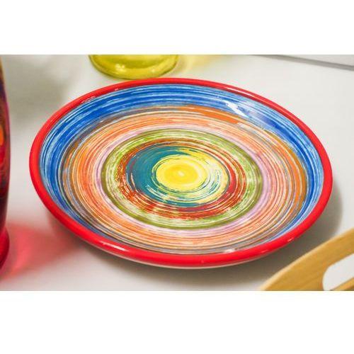 Koopman Talerz ceramiczny 21.5 cm tęczowy