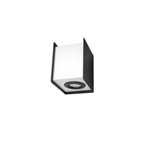 Kinkiet LAMPA ścienna SOL SL.404 kwadratowa OPRAWA kostka cube metalowa czarna biała (5902622429038)