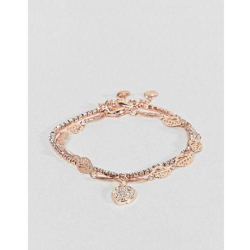 gold multi layer feather detail bracelet - gold marki Aldo