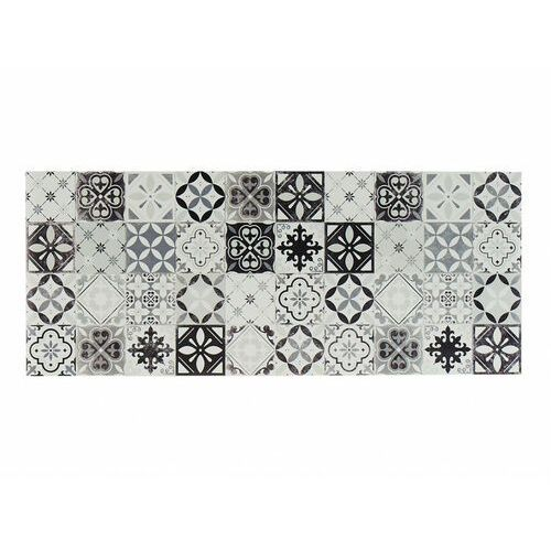 Winylowy chodnik MOSAÏ z motywem cementowych płytek – 66 × 160 cm – kolor czarny i biały
