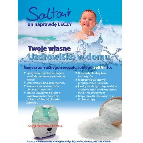 Generator ultradźwiękowy SALTAIR Home Salt Therapy DARMOWY TRANSPORT, 8
